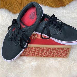 Vans Men's Size 12 Dark Grey & Red Sneakers